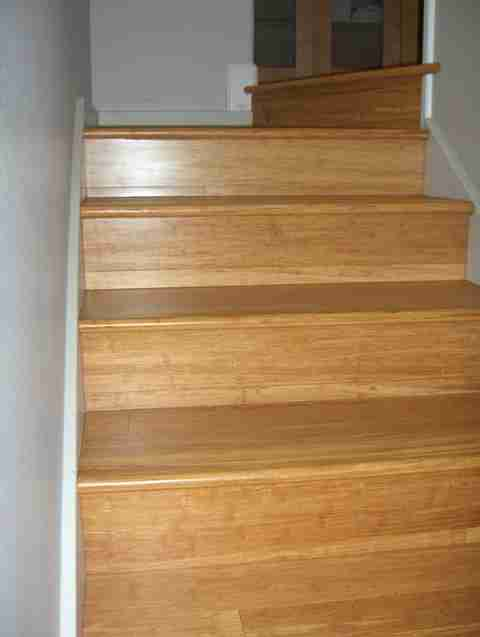 strand woven bamboo stairs in solana beach