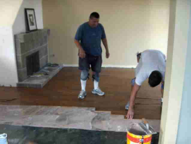 Hickory Wood Flooring in Carmel Valley San Diego