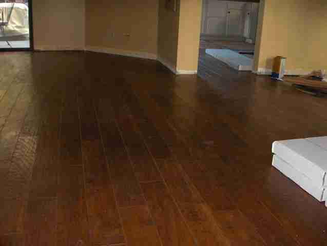 Hickory Wood Flooring in Carmel Valley San Diego