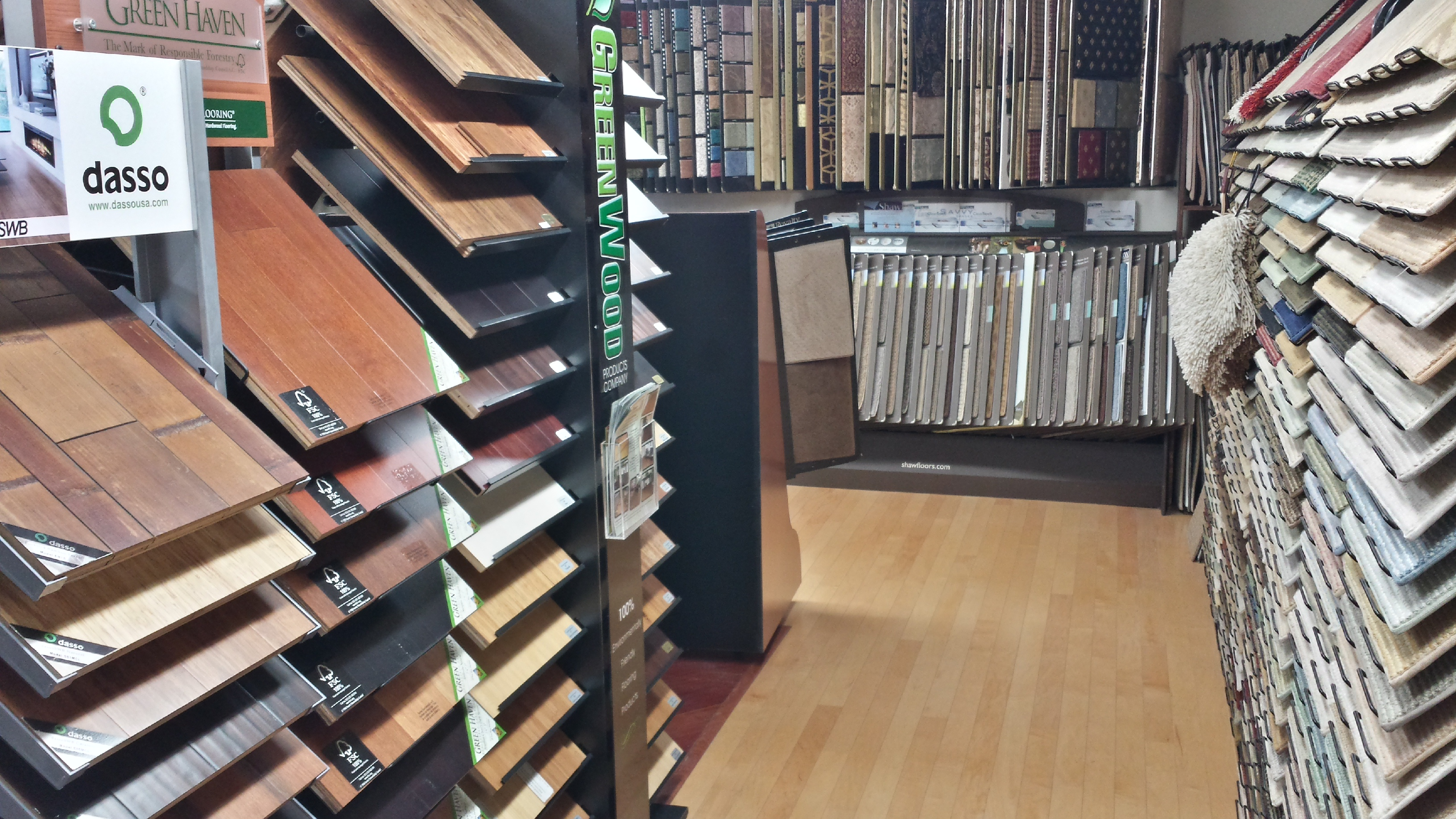 Green Flooring Selections